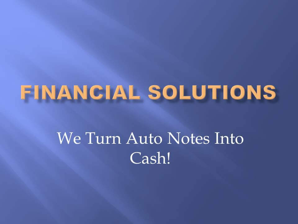 Sell Auto Notes1 Sell Auto Notes For Cash